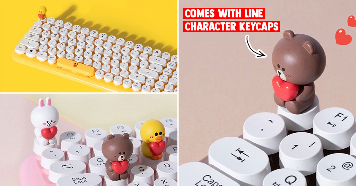 Wireless LINE Friends Keyboard with adorable Character Keycaps available online for S$40 with free shipping
