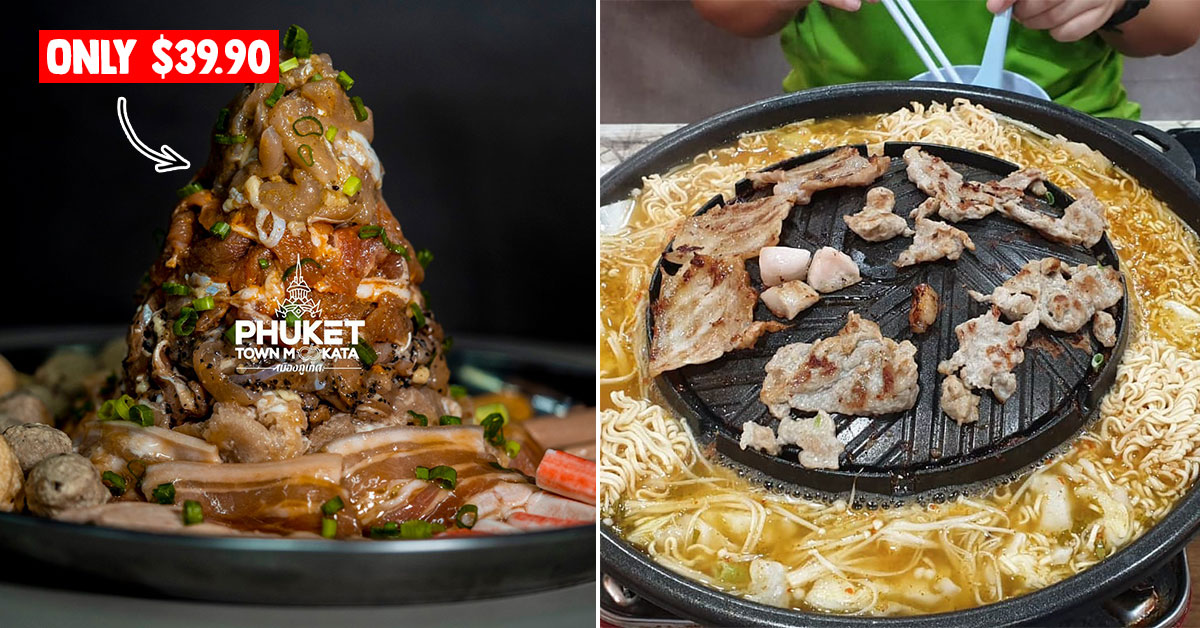Thai Mookata place in AMK serves 1kg Meat Mountain good for 4 – 5 pax for only $39.90 nett