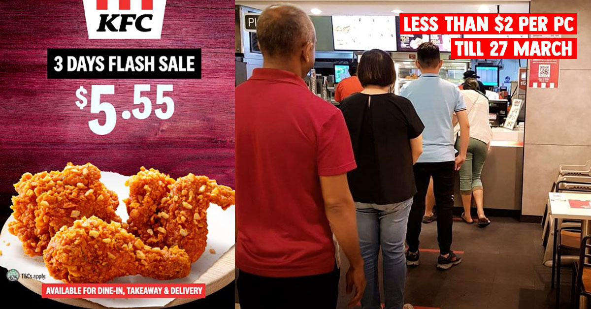 KFC S'pore selling 3pcs Spicy Thai Crunch for only S$5.55 in 3-Day Flash Sale at most outlets till Mar 27