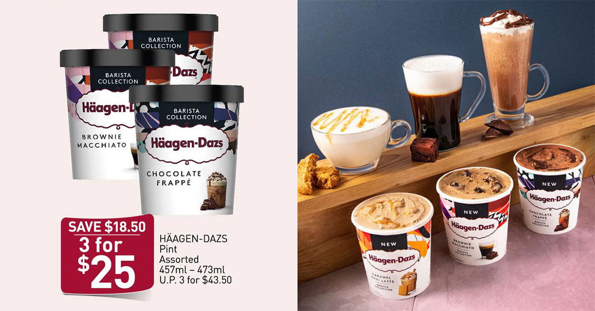 FairPrice Must Buy Offer on Häagen-Dazs ice cream is back till Apr 1. Buy 3 for only $25 ($8.30 per tub)