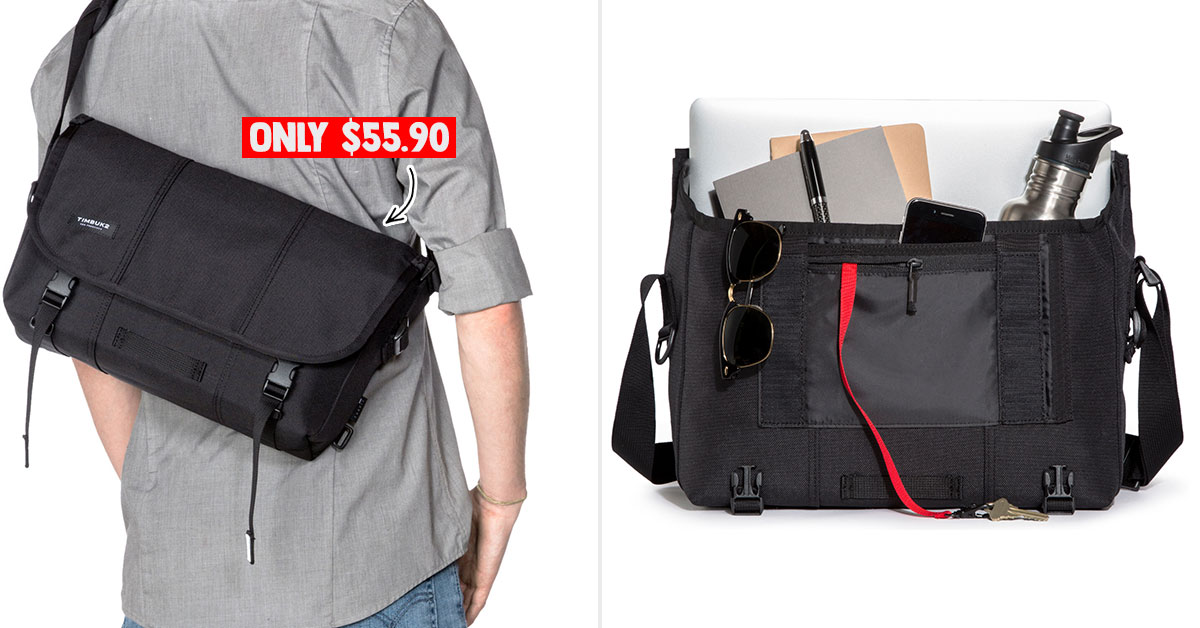 Timbuk2 Classic Messenger Bag that fits 13-inch laptop selling at just S$55.90 online, normally costs over $120