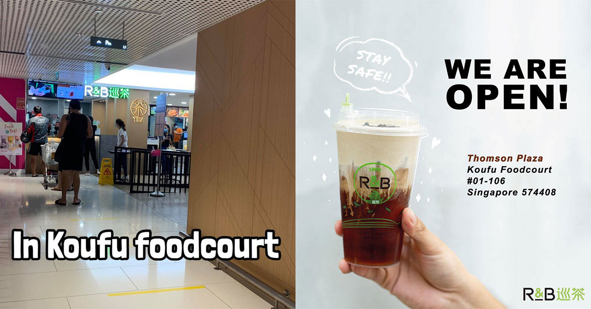 R&B bubble tea shop at Thomson Plaza remains open because it's located inside a foodcourt