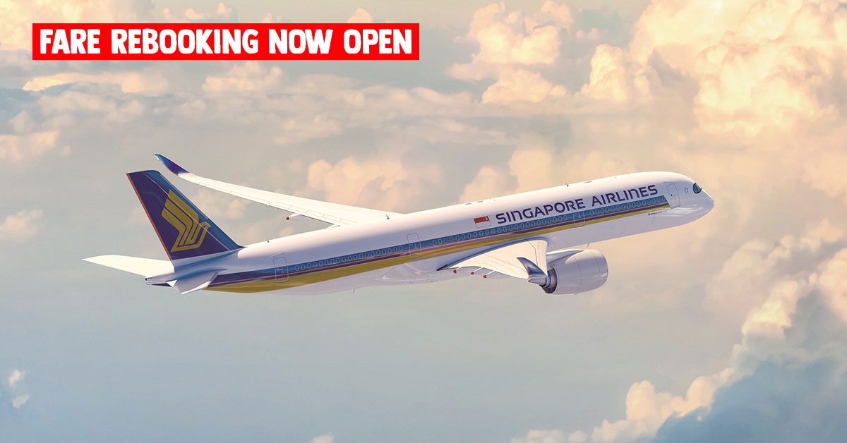 Rebook your fares with Singapore Airlines & SilkAir latest Promotional Fares from $158 to over 60 destinations