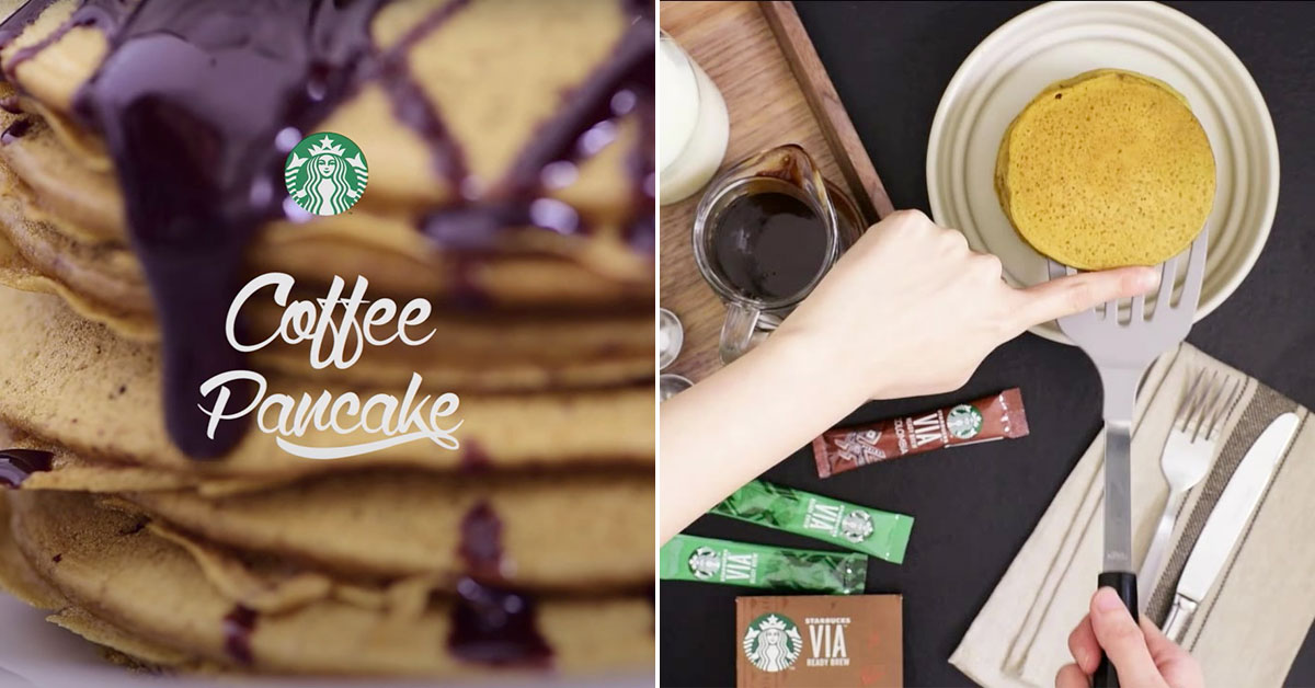 Starbucks S'pore shares Coffee Pancake Recipe so we have one less thing to do in the morning