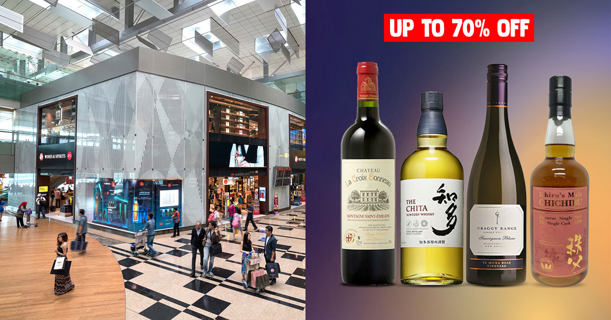 DFS exits Changi Airport after 35 years, has up to 70% Off Beer, Wines & Spirits online till May 31
