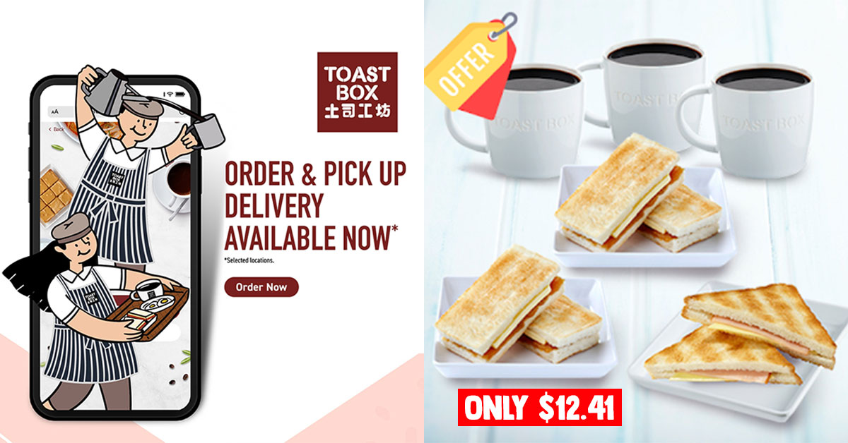 Toast Box Mobile Store goes live, offers up to 20% off Bundle Set Meals for Delivery & Pickup orders