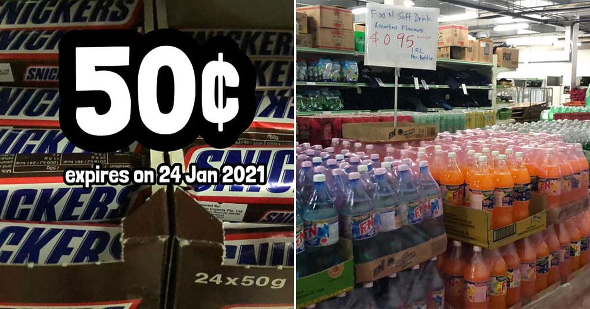 Chap He Diam (杂货店) in Jurong West has $0.50 Snickers Bars, snacks and drinks from $0.29 & more