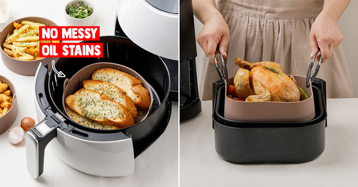 This made-in-Korea Silicone Pot for your Air Fryer is the perfect accessory that won't leave a mess