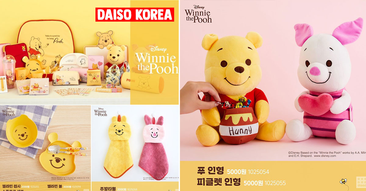 Daiso Korea has lots of Winnie the Pooh merchandise we want to fly there as soon as Circuit Breaker ends