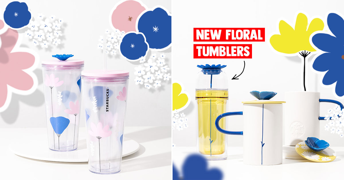 Starbucks new tumblers & mugs featuring Summertime Florals now available in S'pore stores