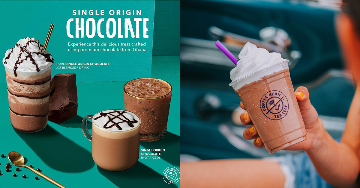 Coffee Bean S'pore now has Single Origin Chocolate drinks made with Premium Cocoa from Ghana