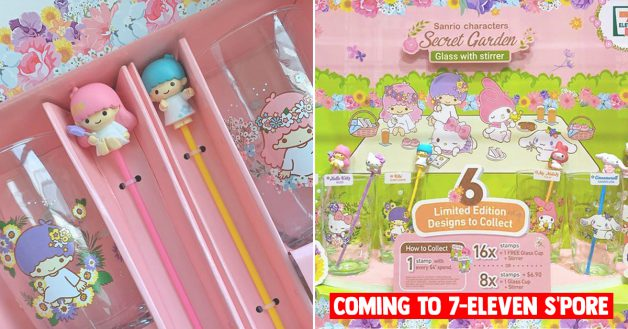 7-Eleven S'pore launching Sanrio Secret Garden Glass & Stirrer Collectibles from Jun 10