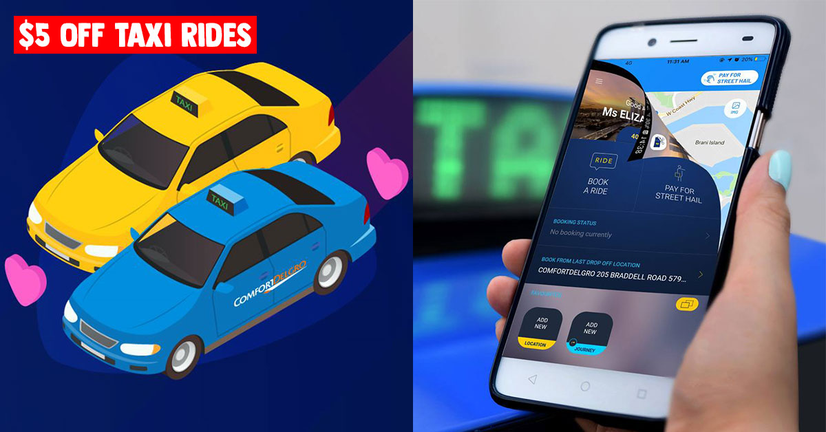 This ComfortDelGro Taxi Promo Code lets you enjoy $5 Off rides till Jun 30, works for existing users too