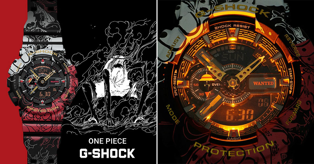 Casio G-SHOCK x One Piece featuring Luffy transformations to go on sale in Japan from Jul 2020