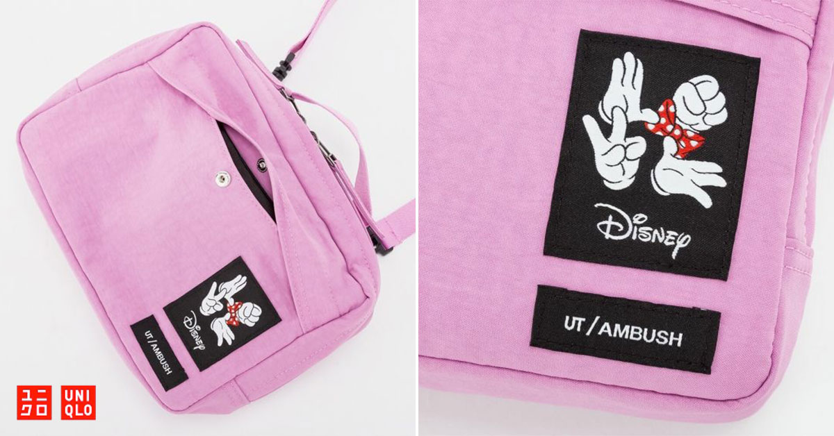 UNIQLO x AMBUSH Minnie Mouse Sling Bag available for S$14.90 online, 50% off its usual price