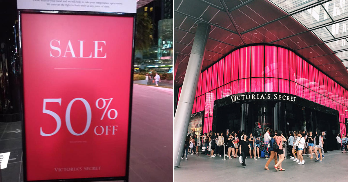 Victoria's Secret now having 50% Off on lingerie items in Mandarin Gallery store for a limited time