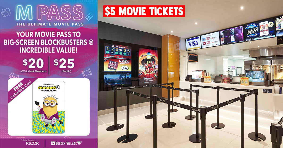 GV offers $20 Movie Pass that comes with 4 tickets you can use anytime within 3 months