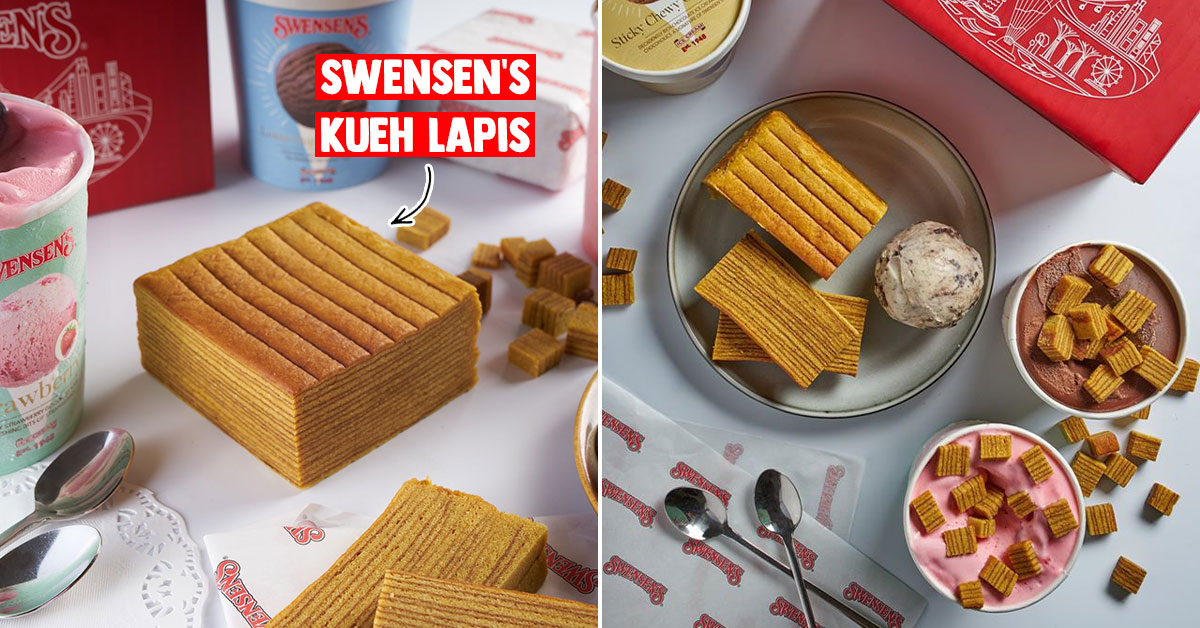 Swensen's now has Handmade Kueh Lapis you can pair with their Premium Ice Cream