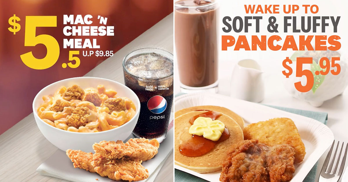 KFC S'pore brings back Mac 'N Cheese along with new Pancakes Platter from Jul 9 onwards