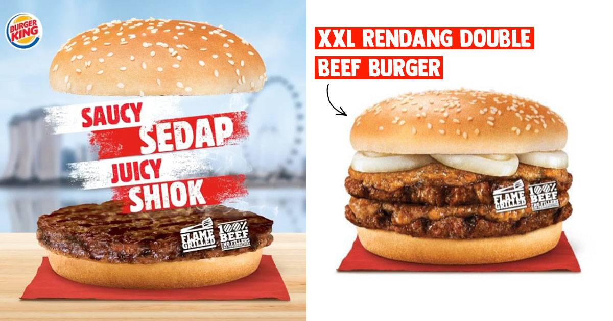 Burger King brings back Rendang Burger from Jul 14 because NDP 2020, even comes in XXL size