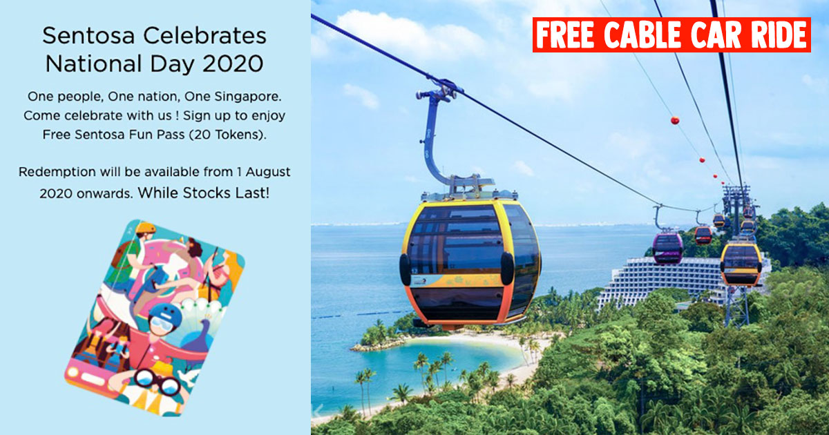 Sentosa NDP 2020 Celebration lets you redeem FREE Cable Car, Headrock VR, Segway rides & more