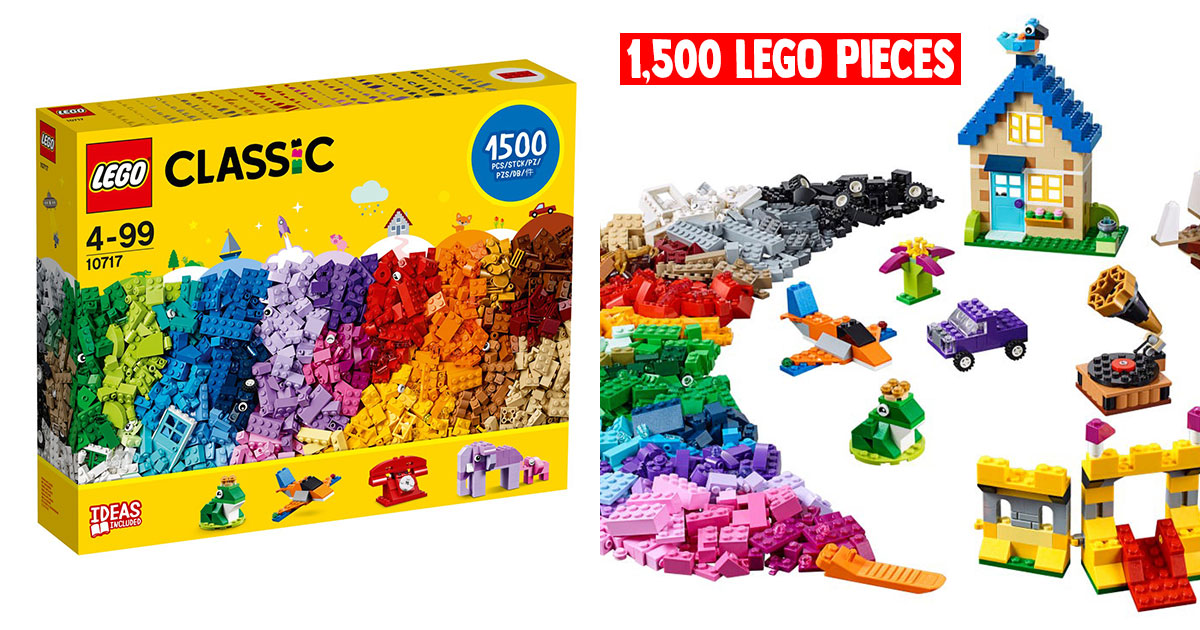 1,500-piece LEGO Classic Bricks Set available for only S$72 online now for a limited period