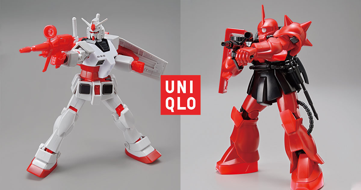 UNIQLO x Gunpla Gundam & Zaku Action Figures available at selected S'pore stores from Aug 7