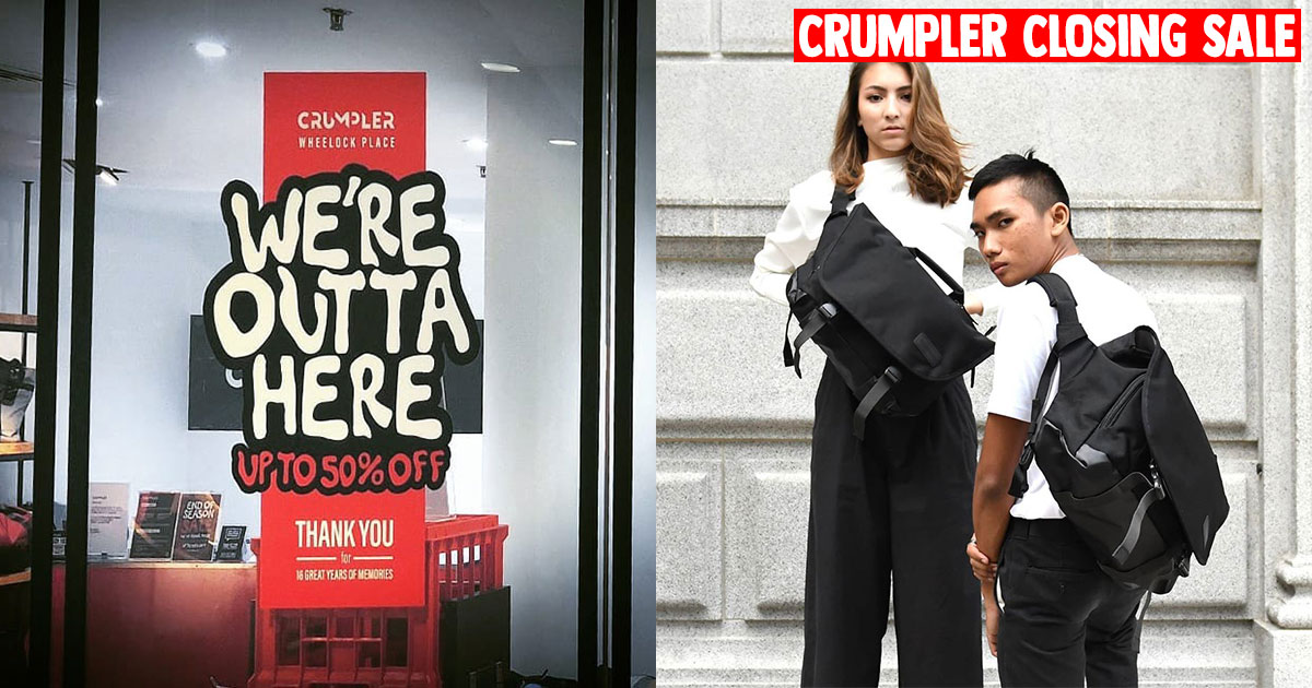 Crumpler closes store in Wheelock Place after 17 years, offers up to 50% off storewide till Aug 20