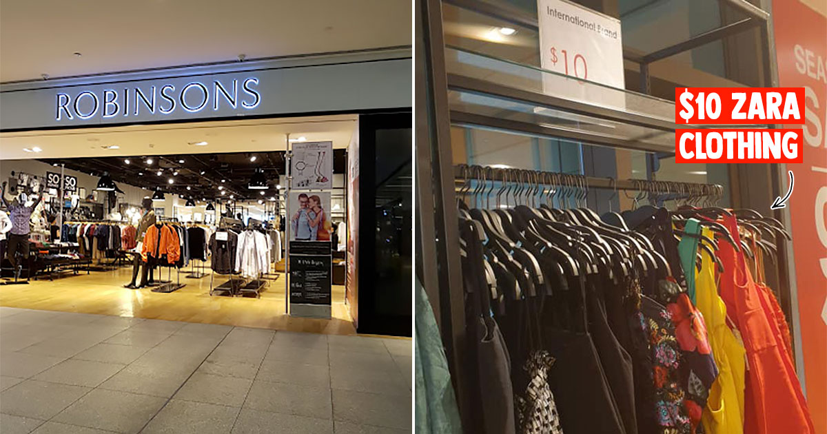 Robinsons JEM Closing Down Sale has lots of ZARA fashionwear with prices as low as $10 till end-August