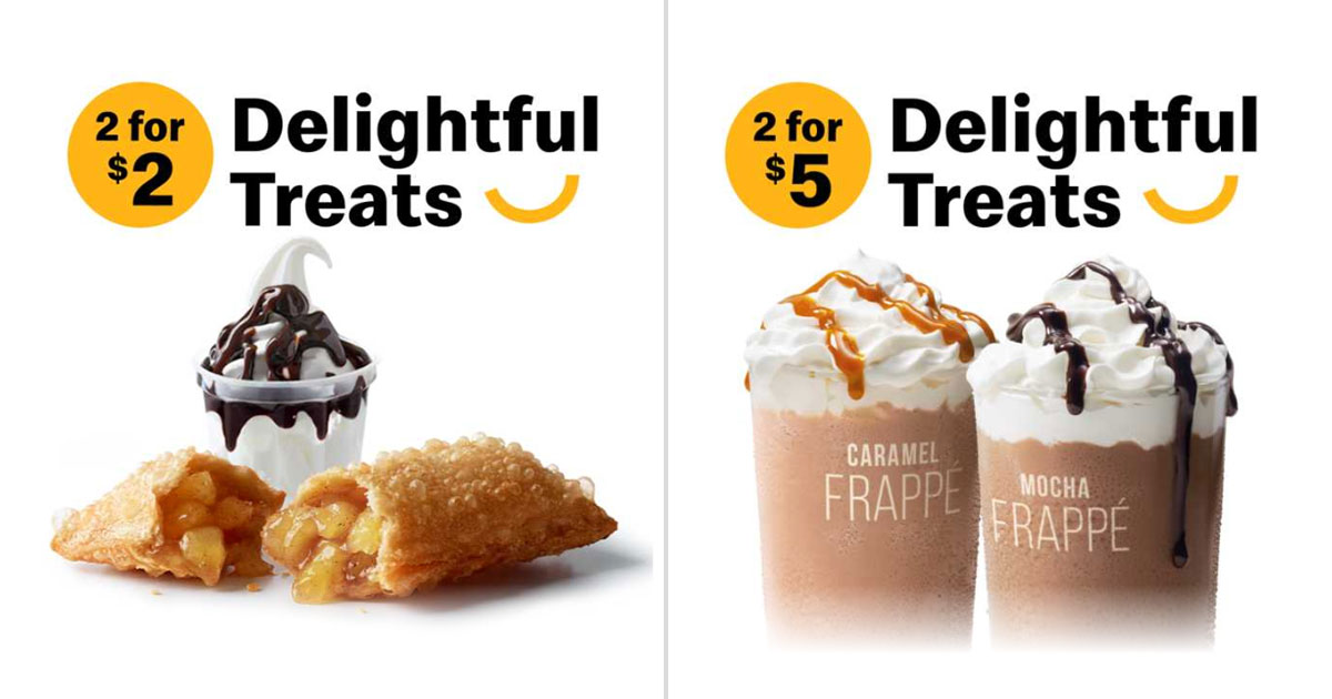 Mcdonald S App Has Sundae Apple Pie And Caramel Mocha Frappe Deals From Only 2 Till Aug 31 Great Deals Singapore