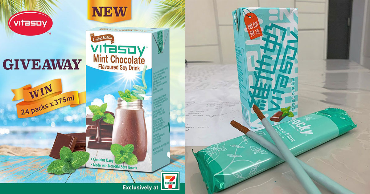 Limited Edition Mint Chocolate Vitasoy now available in 7-Eleven S'pore, plus chance to win a 24-pack