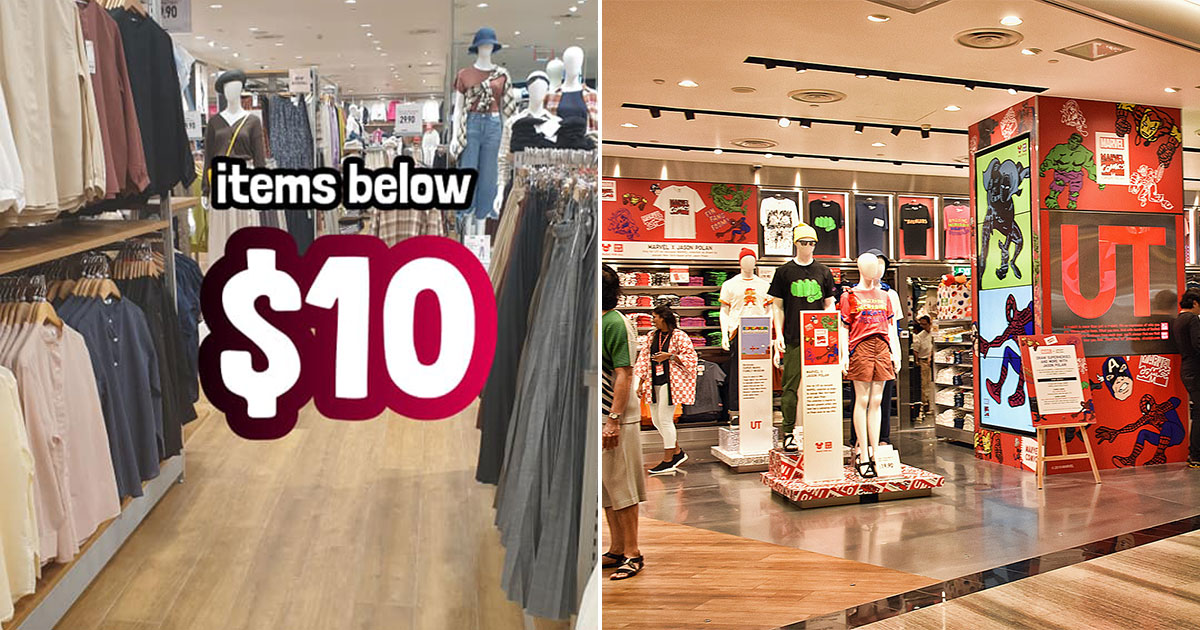 UNIQLO Jewel Changi Airport has lots of fashionwear on sale with prices as low as $2.90 a piece