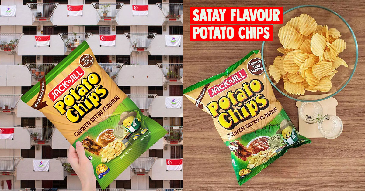Limited edition 'Chicken Satay' Jack 'n Jill Potato Chips now available at $1.40 in S'pore supermarkets