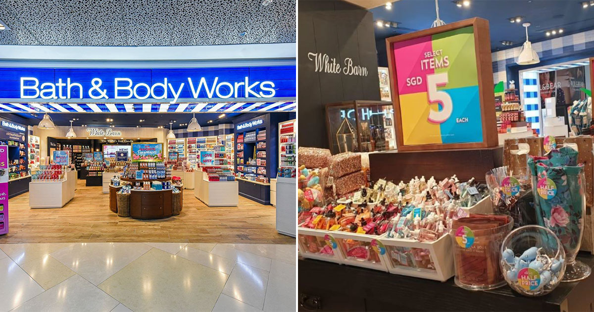 Bath & Body Works has lots of body care products & fragrances from $5 at all outlets in S'pore till Sept 2