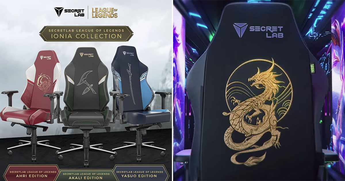 Secretlab launches new League of Legends Gaming Chairs from S$529 featuring fan-favourite champions