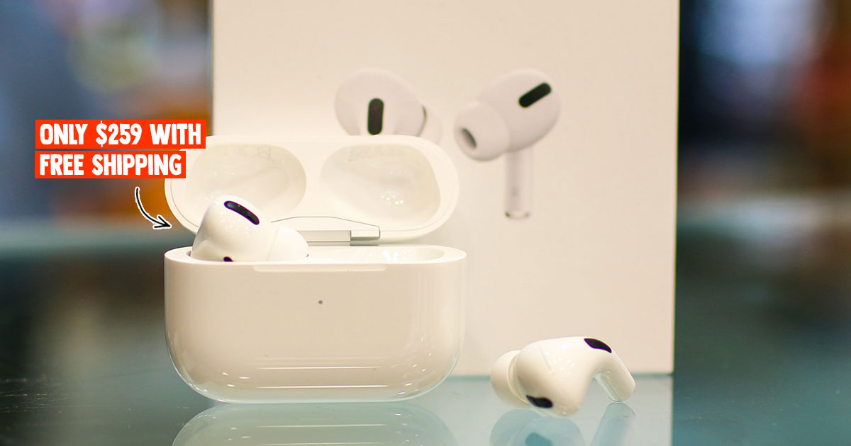 Apple AirPods Pro available for S$259 online with free shipping & local warranty, even has free silicone case