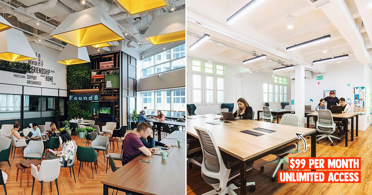 Coworking space Found8 offers $99 per month unlimited access, has locations in Amoy, Prinsep, Orchard & more