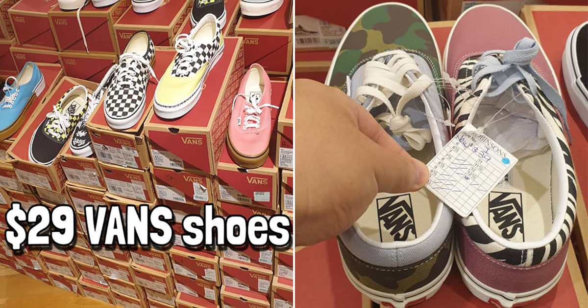 Robinson Jem Moving Out Sale has lots of VANS Sneakers with prices as low as $29 till Aug 31