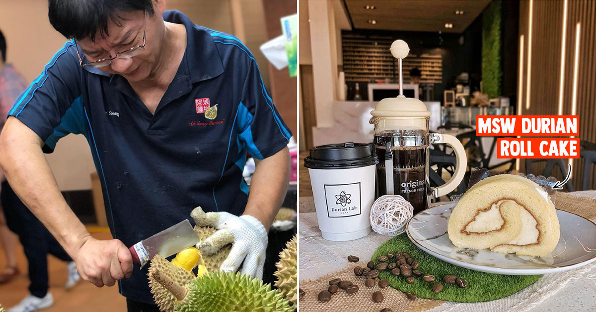 Popular durian place Ah Seng opens Durian Lab Cafe in Alexandra, has lots of MSW cakes & pastries