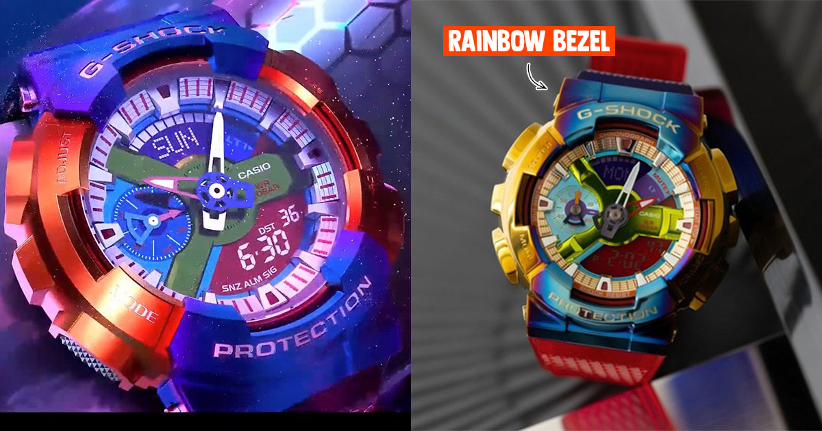 G-SHOCK S'pore to launch new GM-110 Metallic Cover Collection including one with Rainbow Bezel