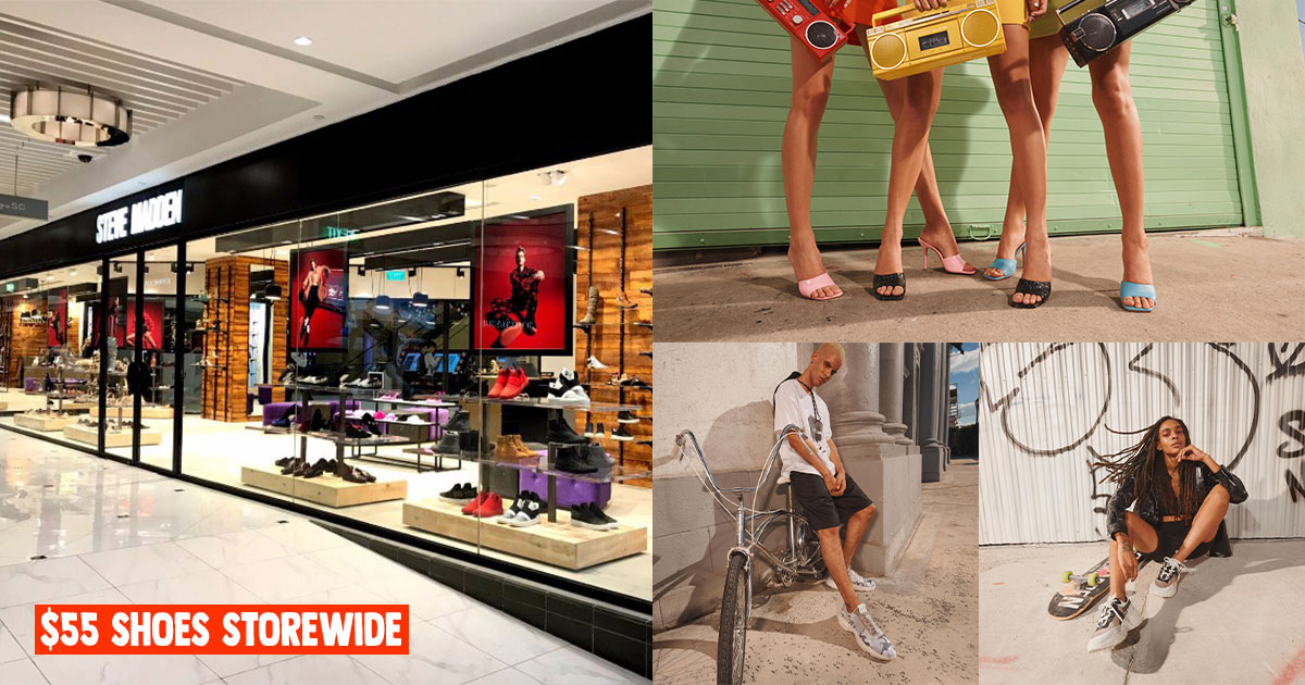 Steve Madden to offer $55 on all shoes storewide including men's sneakers at Takashimaya from Sept 2 – 6