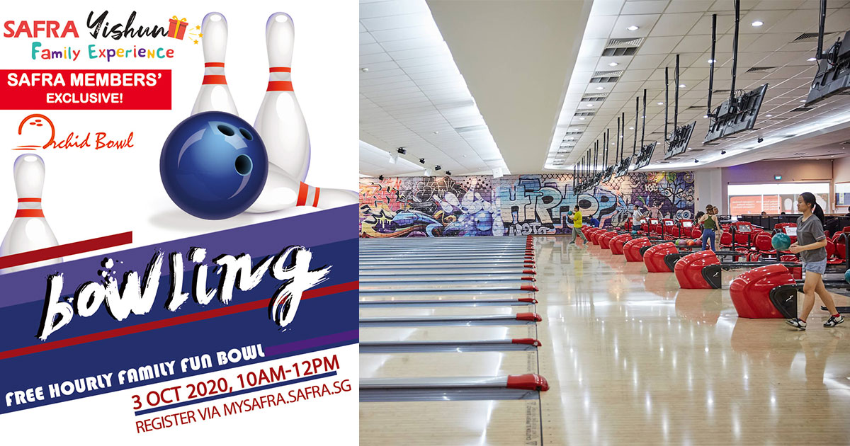 SAFRA Yishun to offer FREE Bowling Hours at Orchid Bowl for members on Oct 3