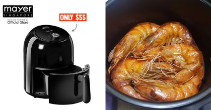 Mayer S'pore selling 2.5-litre Airfryer for only $55 online, even comes with free Kitchen Scale