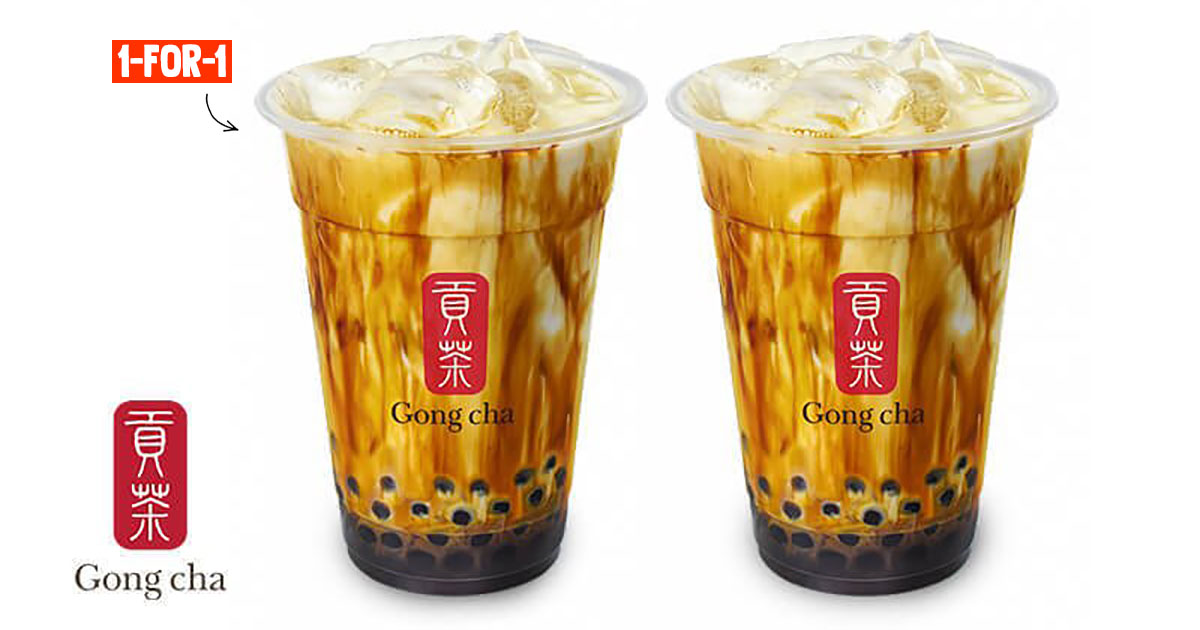 Gong Cha has a 9.9 Online Deal to redeem 1-FOR-1 Brown Sugar Fresh Milk with Pearl from Sept 4