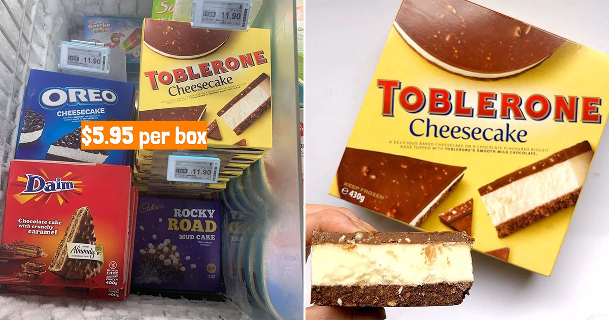 Sheng Siong selling OREO, Toblerone, Daim & Cadbury Ice Cream Cakes for $5.95 per box till Sept 13