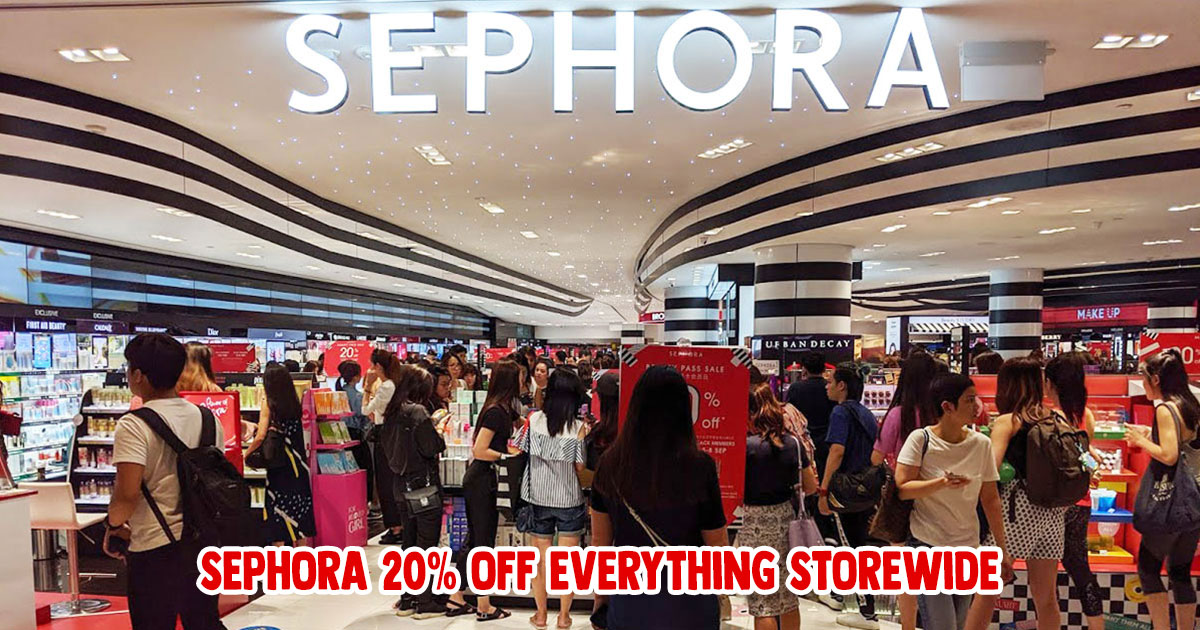 SEPHORA to offer flat 20% Off on all items storewide from Sept 9 – 13, available at all S'pore stores & online