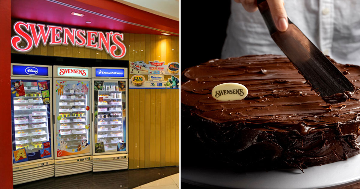 Swensen's selling Sticky Chewy Chocolate Ice Cream Cake at $37.60 till Sept 14, 20% off the usual price