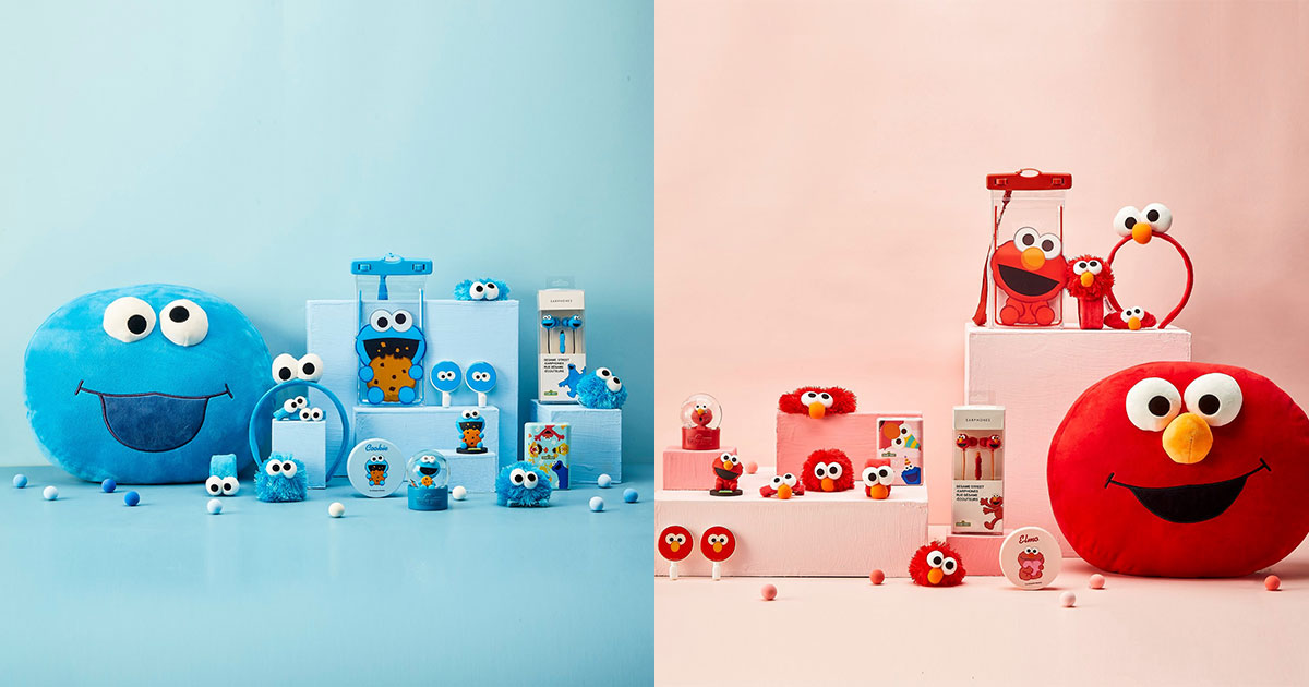 Miniso x Sesame Street Collection featuring Elmo & Cookie Monster now available in S'pore