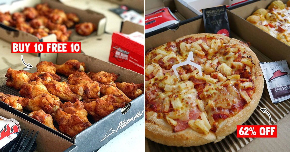 Get Up To 62 Off With Pizza Hut Latest Discount Coupons Till Oct 7 Has Pizza Deals Buy 10 Get 10 Drumlets Great Deals Singapore