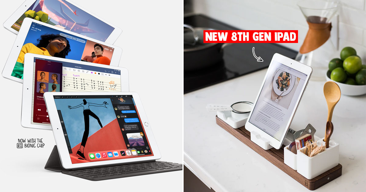 Get the latest 8th Gen iPad with A12 Bonic chip for S$459 with free shipping & warranty (U.P. S$499)